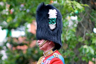 Welsh Guards - HRH The Prince of Wales, colonel of the regiment since 1975.