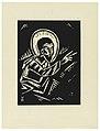 "Print, Christos Kazici, Christ, Plate IV, ""Ethiopie, cili Christos, Madonna a Svati, jak jsem ie videl v illuminacich starych ethiopskych kodexu"" Portfolio, 1920 (CH 18684915).jpg"
