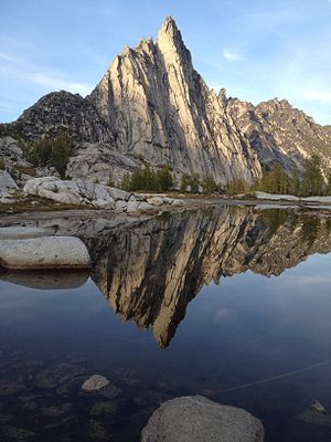 The Enchantments - View of Prusik Peak from Gnome Tarn