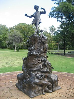 Public art - Peter Pan, Queens Gardens, Perth