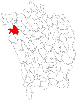 Location of Pungești