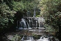 Purakaunui Falls In Caitlins New Zealand.jpg
