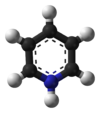 Ball-and-stick model of the pyridinium cation