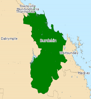 Electoral district of Burdekin - Electoral map of Burdekin 2008