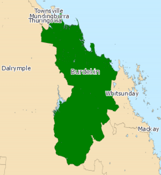 Electoral district of Burdekin - Electoral map of Burdekin 2008