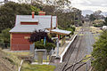 Queanbeyan Railway Station viewed from the McEwan Avenue Bridge on the ACT side in Oaks Estate.jpg
