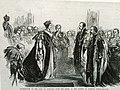 Queen Victoria And King of Sardinia in Garter Ceremonial Robes.JPG