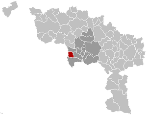 Quiévrain - Image: Quiévrain Location