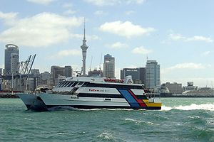 Fullers Group - The MV Quick Cat, deployed on the Waiheke Island service