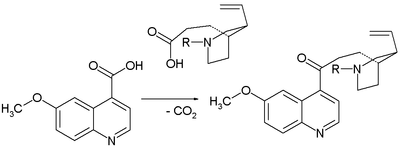 Claisen condensation in Prelog conversion of homomeroquinene to quinotoxine