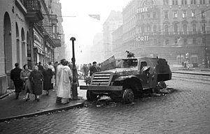BTR-152 - BTR-152 knocked out during the Hungarian Revolution of 1956.