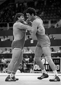 RIAN archive 556155 Wrestlers Adam Sandurski and Jozsef Balla during their match.jpg