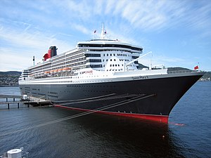 RMS Queen Mary 2 - Queen Mary 2 at Trondheim, 2007