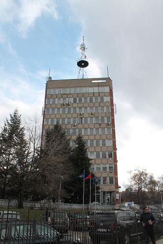 Media of Kosovo - Building of Public television of Kosovo, Kohavision and Radio Kosova