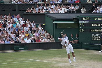 Rafael Nadal 2011 Wimbledon serve