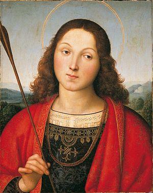 Accademia Carrara di Belle Arti di Bergamo - St. Sebastian by Raphael (1501/1502).