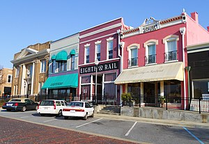 Lee County, Alabama - Image: Railroad Avenue Historic District Opelika Alabama
