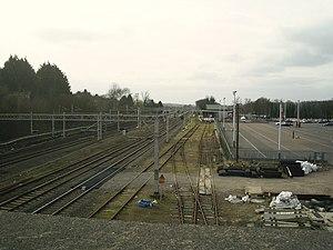 Hemel Hempstead railway station - Image: Railway sidings and station car park , Hemel Hempstead (geograph 2172382)