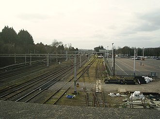Hemel Hempstead railway station - Image: Railway sidings and station car park , Hemel Hempstead (geograph 2172382)