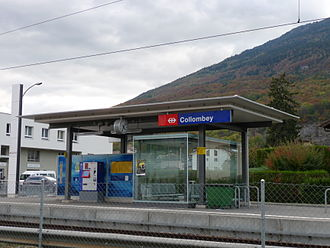 Collombey-Muraz - Collombey rail station