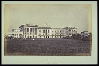 Raj Bhavan (West Bengal) - Government House, South Front, photographed by Samuel Bourne
