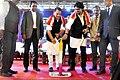 Rajiv Pratap Rudy and the Minister of State for Heavy Industries & Public Enterprises, Shri Babul Supriyo inaugurating the DigiDhan Mela, in Agartala.jpg