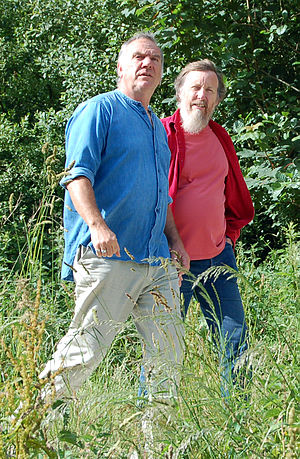 Ralph McTell - Ralph McTell (left) with David Suff of Fledg'ling who compiled and released The Journey boxed set