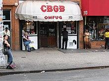 Il club CBGB dove i Ramones iniziarono la loro carriera musicale