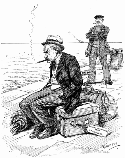 Hoist with this own petard.