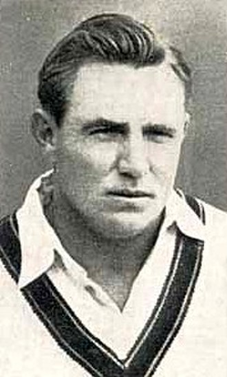 Second Test, 1948 Ashes series - Ray Lindwall, who took 5/70 for Australia in the first innings.