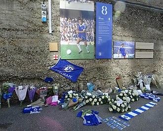Ray Wilkins - Memorial Wall outside Stamford Bridge.