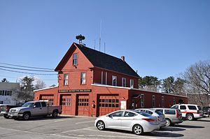 Raymond, New Hampshire - The Torrent Hose Company (fire station) in the town center