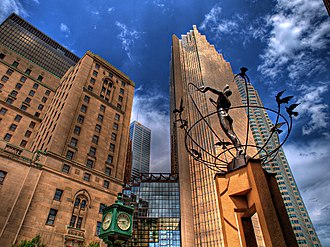 Outline of globalization - Monument to Multiculturalism by Francesco Perilli in Toronto, Canada. Four identical sculptures are located in Buffalo City, South Africa; Changchun, China; Sarajevo, Bosnia and Sydney, Australia