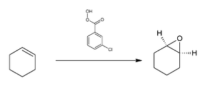 Meta-Chloroperoxybenzoic acid - Image: Reaction of cyclohexene with m CPBA