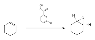 Reaction of cyclohexene with mCPBA.png