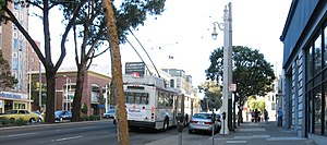 Van Ness Avenue - Intersection of Van Ness Avenue and Clay Street.