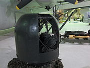 Rear view of Rose turret at RAF Museum London