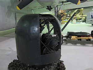 Rear view of Rose turret at RAF Museum London.JPG