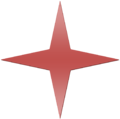Red Gradient 4 Point Star.png