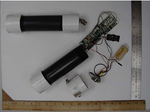Sensor fish - Image: Redesigned model using PVC pipe