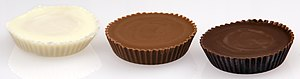 English: A trio of Reese's Peanut Butter Cups:...