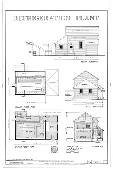 North N Home Plan And Elevation : File refrigeration plant north elevation second floor