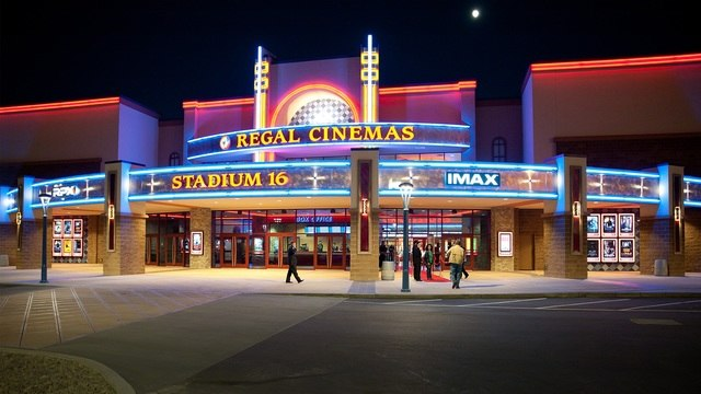 Regal Winrock Stadium 16 IMAX %26 RPX at Night