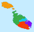 Regions of Malta by color.png