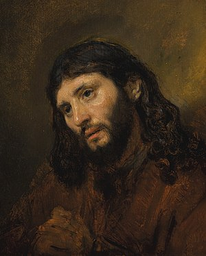 Head of Christ (Rembrandt) - Image: Rembrandt Oil Study of Christ