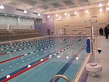 renovated pool area at harry s truman high school