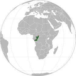 Location of  Republic of the Congo  (dark blue)– in Africa  (light blue & dark grey)– in the African Union  (light blue)