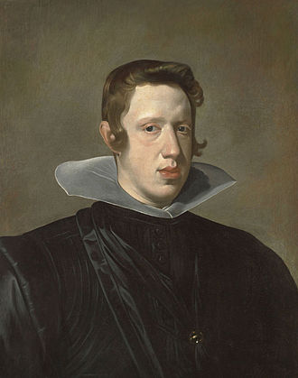 "Philip IV of Spain - Painting of a youthful Philip IV in 1623 by Diego Velázquez, displaying the prominent ""Habsburg lip"""