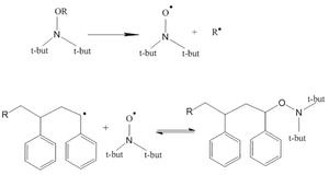 Reversible-deactivation radical polymerization - Example of a reversible deactivation reaction
