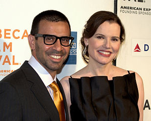 Geena Davis - Reza Jarrahy and Davis in 2009